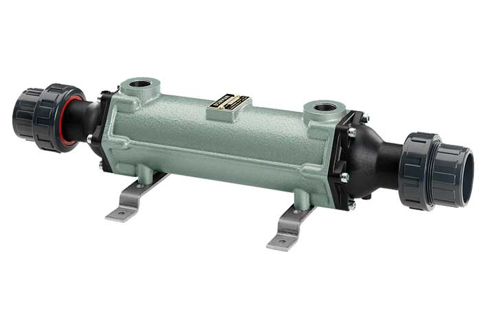 Titanium/Cast Iron Shell & Tube Heat Exchangers