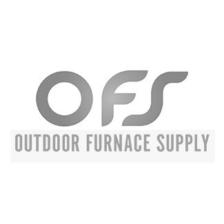 "5""x12"" Brazed 80 Plate Heat Exchanger Outdoor Wood Furnace w/Y-strainer [1-1/4""]"