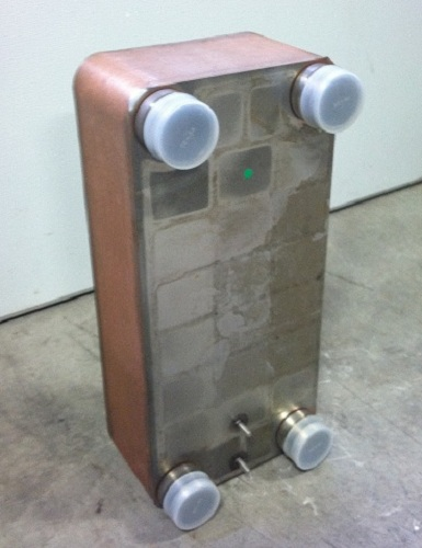 "Brent Industries LLC 10""x20"" Brazed 50 Plate Heat Exchanger Outdoor Wood Furnace [1-1/2"" MPT] at Sears.com"