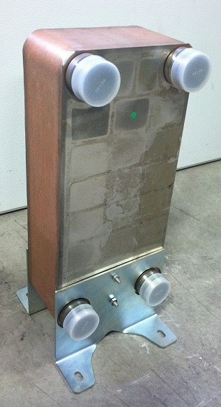 "Kit: 10""x20"" Brazed 50 Plate Heat Exchanger [2"" MPT] w/Floor Mounts at Sears.com"