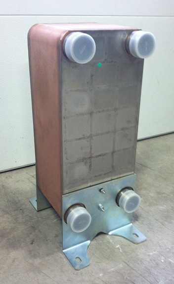 "Kit: 10""x20"" Brazed 100 Plate Heat Exchanger [2"" MPT] w/Floor Mounts at Sears.com"