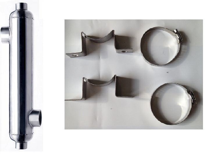 Kit: 1,200,000 BTU 316L Stainless Steel Pool & Spa Heat Exchanger w/Mounts at Sears.com
